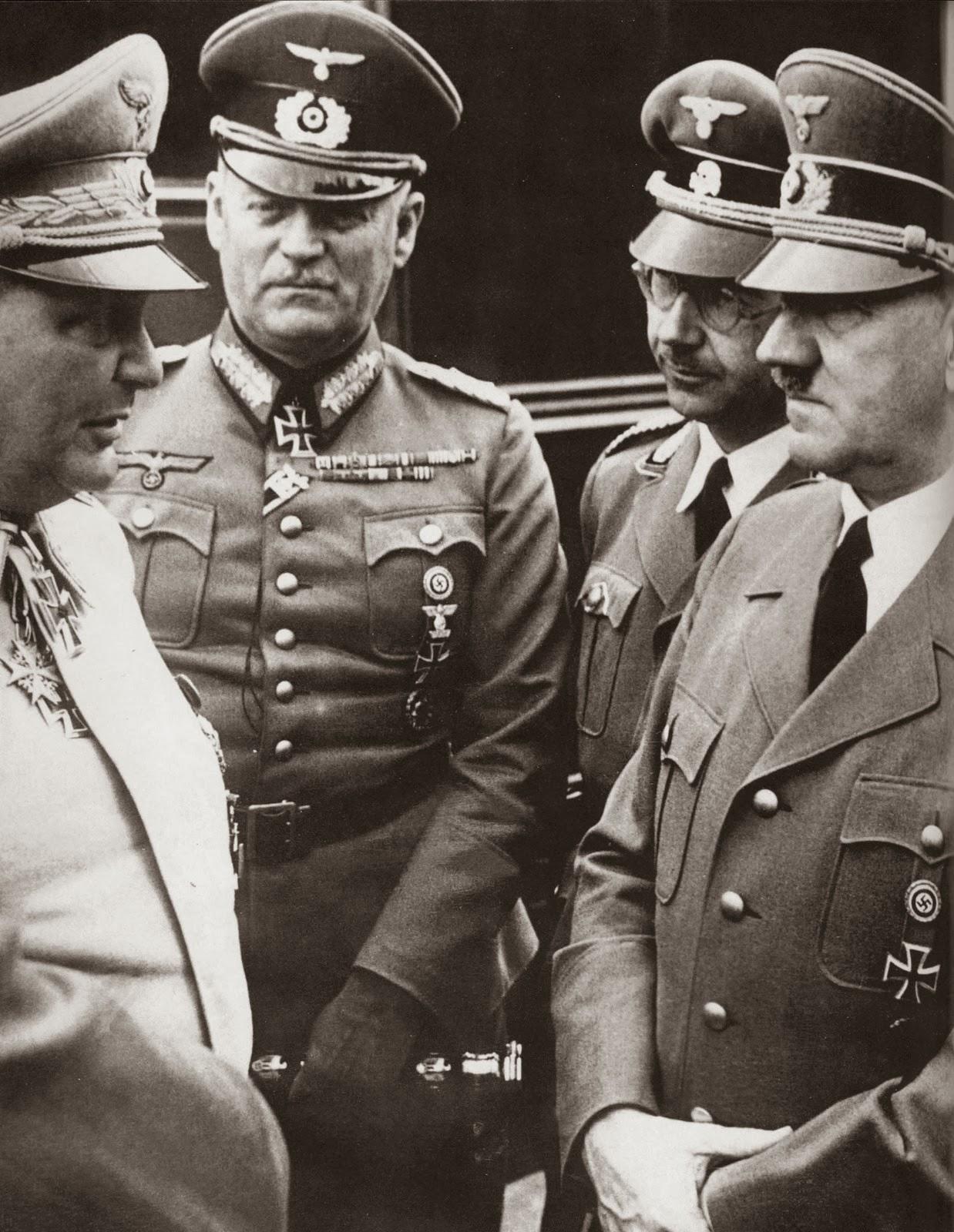 Hitler, W. Goering, W. Keitel, and H. Himmler