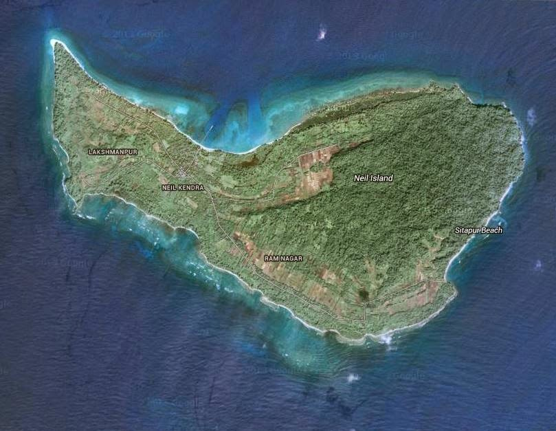 Satellite view of Neil Island