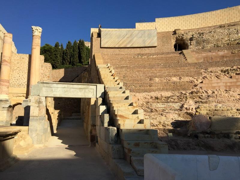inside the Roman theatre in Cartagena