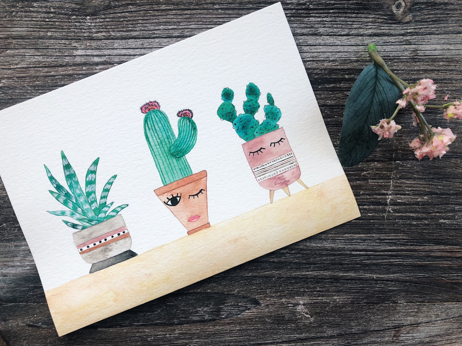 Watercolor Workshop: Cacti & Succulents by www.theartsyboho.com