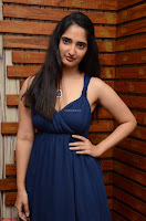 Radhika Mehrotra in a Deep neck Sleeveless Blue Dress at Mirchi Music Awards South 2017 ~  Exclusive Celebrities Galleries 062.jpg