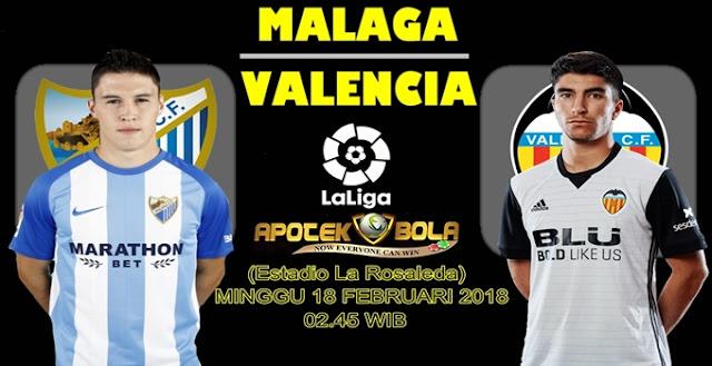Prediksi Malaga vs Valencia 18 Februari 2018