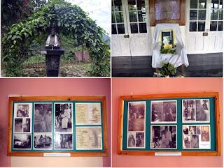 Dr Bhoj Bahadur Gurung donates two rare images frame of Rabindranath tagore to mungpoo