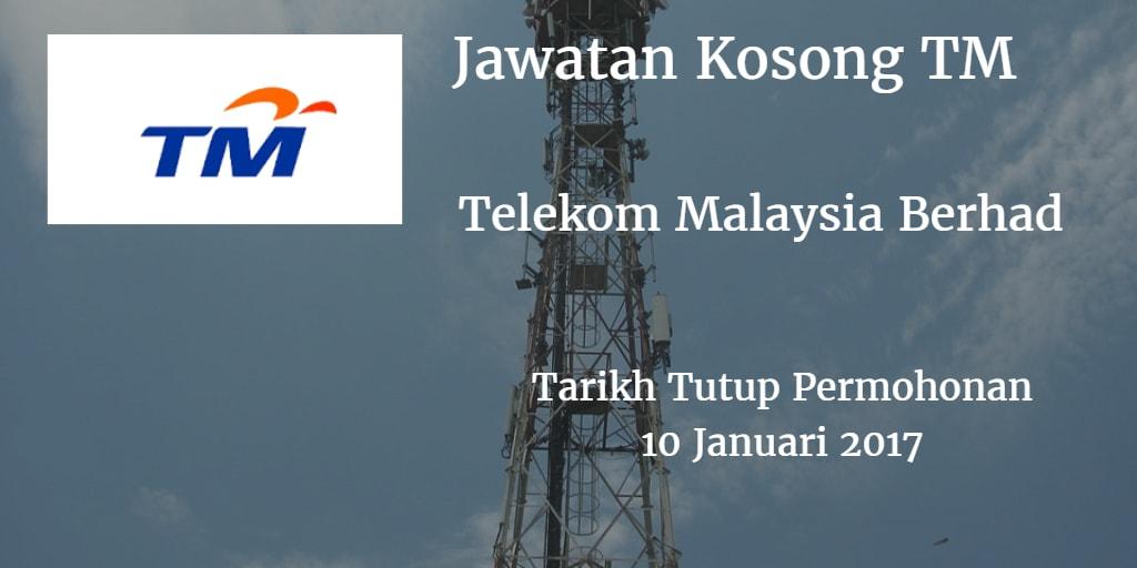 Jawatan Kosong TM 10 Januari 2017