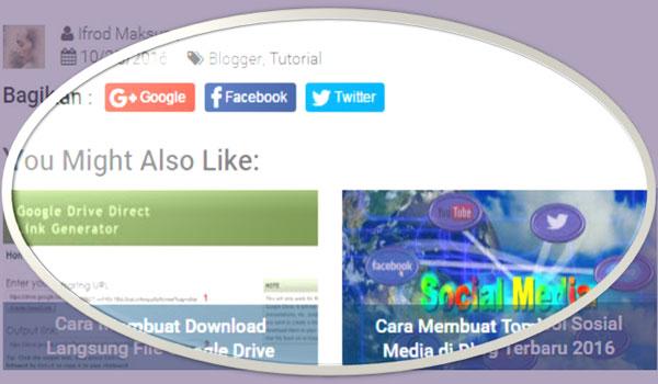 Membuat Tombol Share Sederhana Untuk Mempercepat Loading Blog