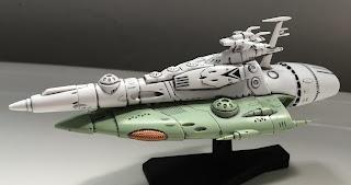 Space Battleship Yamato Mecha Collection Model Kit, the Gatlantis/ Comet Empire Kukulkan Destroyer Gundam Real Touch Markers