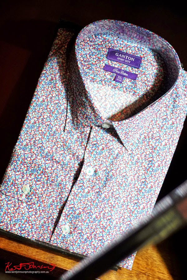 Ganton Sport City cotton Liberty Print shirt at Shirt Bar Sydney - Photography by Kent Johnson.