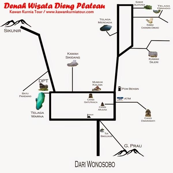 peta wisata dieng wonosobo