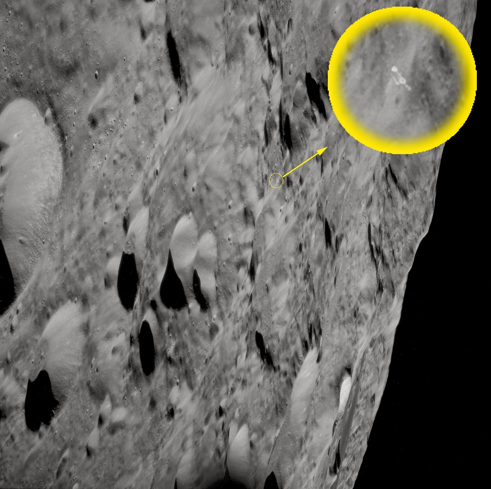 UFO mania: Alien Base Discovered In NASA Moon Photo on the ...