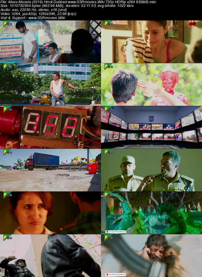 Mass Masala (2019) Hindi Dubbed 480p HDRip x264 400MB Movie Download