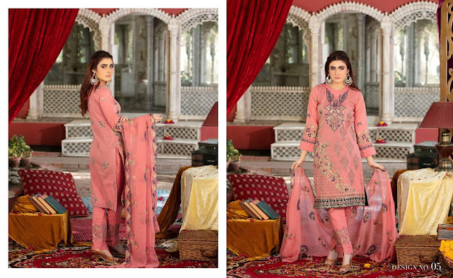 Rujhan Fabrics  Embroidered Spring Summer Collection 2020