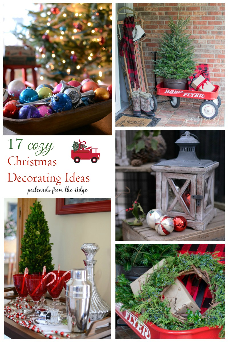 Lots of great ideas for Christmas decorating with vintage and farmhouse decor.