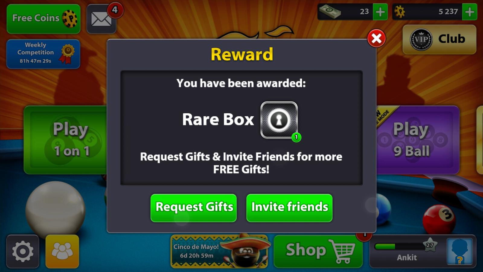 8 Ball Pool Cue Reward App Download