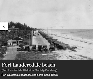 screengrab showing fort lauderdale beach in the 1920s