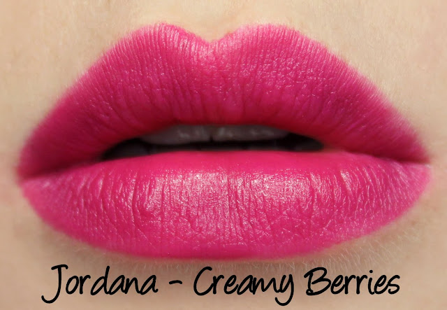Jordana Creamy Berries lipstick swatches & review