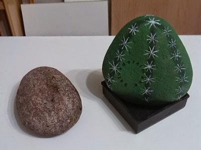 Bricolaje y modelismo piedras decoradas para el jardin for Bricolaje para jardin