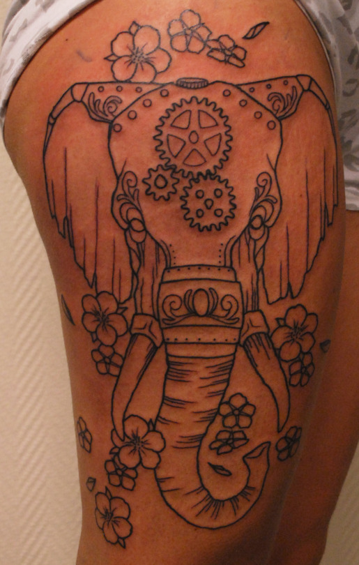 amazing elephant steampunk tattoos