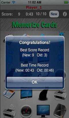 Game Mengingat iOS: Memorize Card Lite
