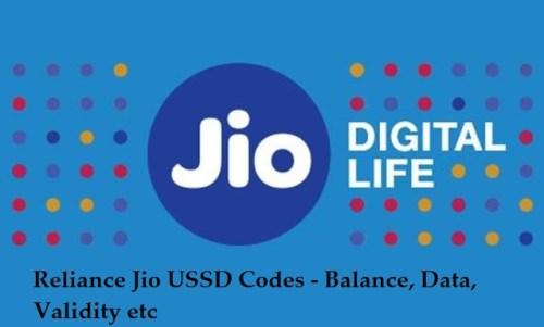 How To Check Jio Data, Balance With Ussd Codes Hindi