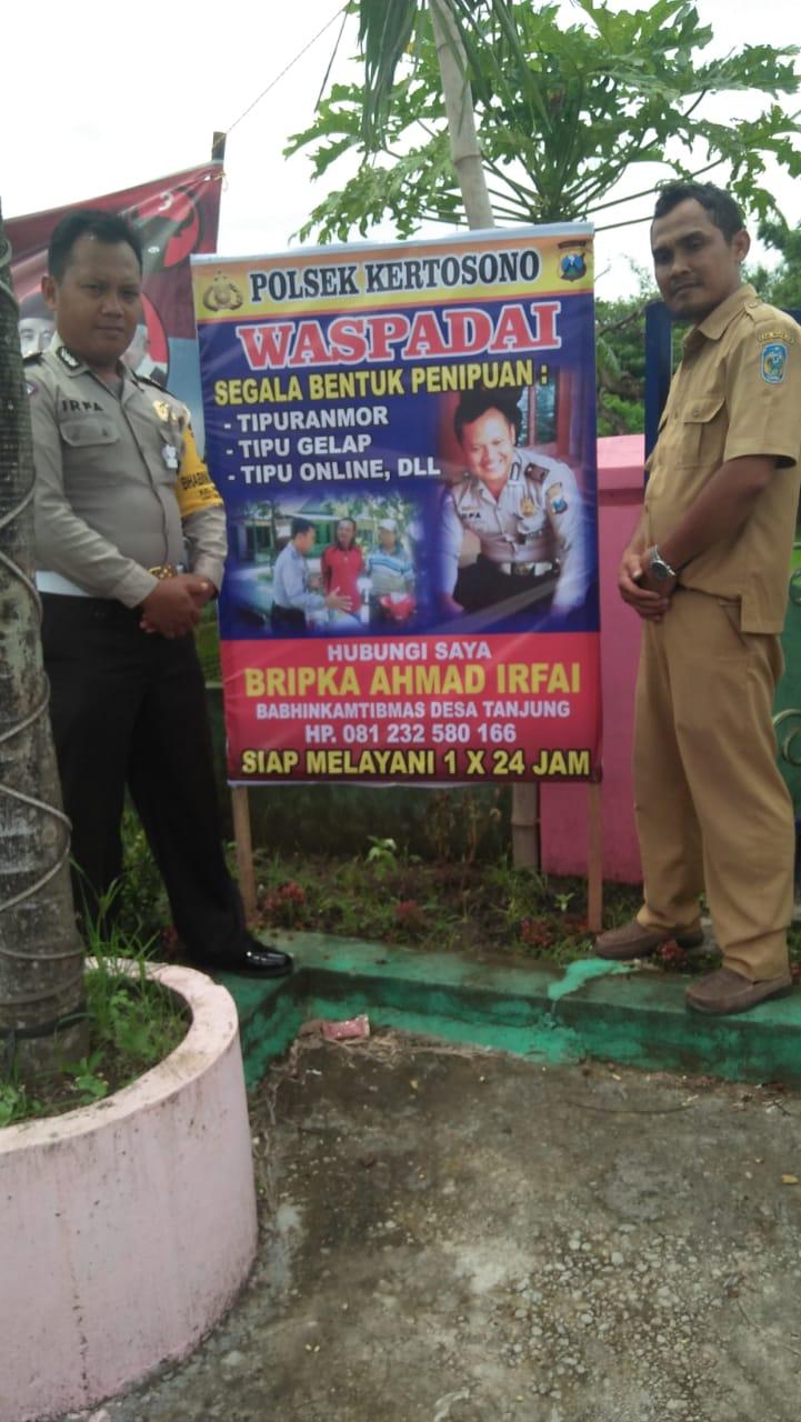 Cegah Penipuan Bhabinkamtibmas Desa Tanjung Pasang Banner Himbauan