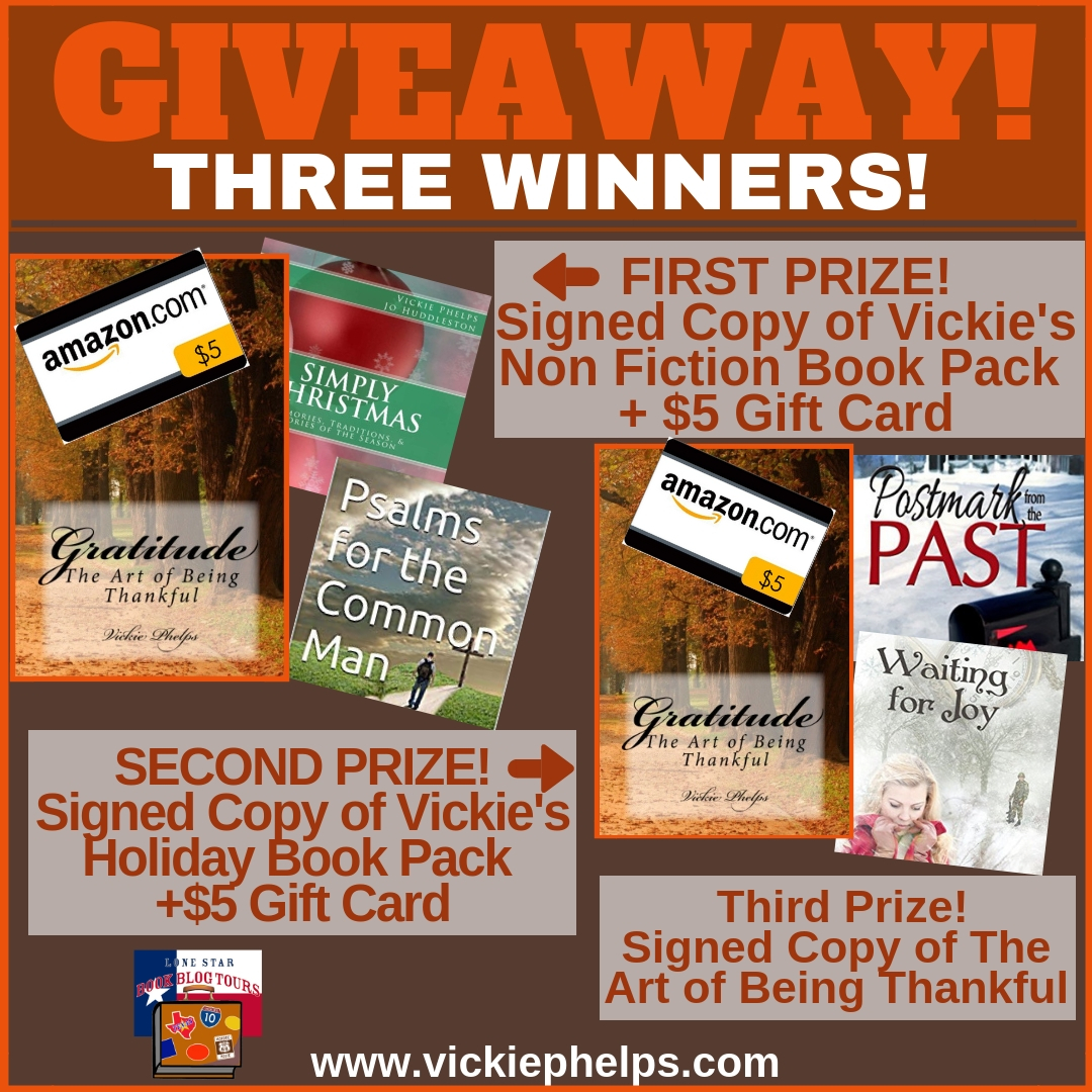 Gratitude: The Are of Being Thankful giveaway graphic