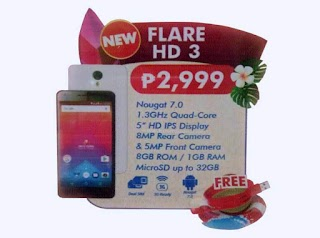 Cherry Mobile Flare HD 3 – 5-inch Android Nougat for Only 2,999 Pesos