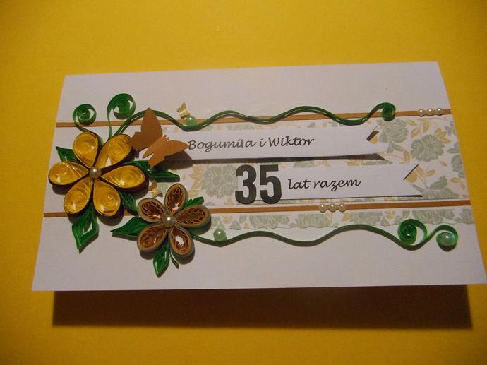 kartka na 35. rocznicę ślubu