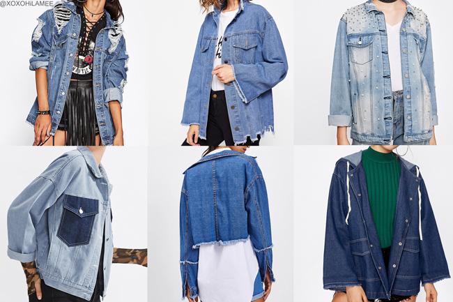 日本人ファッションブロガー,Mizuho K,NEW IN-パッチバックブリーチウォッシュデニムジャケット from SheIn デニムジャケットのウィッシュリスト