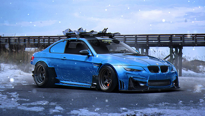⚡E92 SNOW⚡ Wallpaper Engine