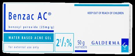Benzac AC 2.5% ช่วยสิวแห้งเร็ว