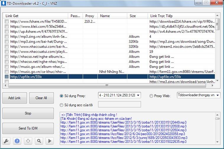 43 - TD-Downloader 4.3.1: Tải Fshare, 4Share, Zing Mp3 không cần tài khoản VIP