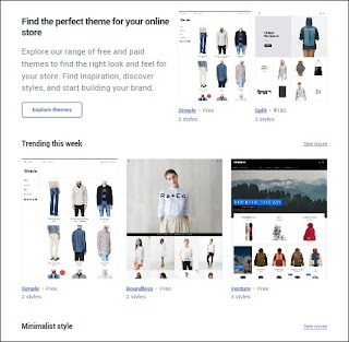 choose theme in shopify theme store for your online store