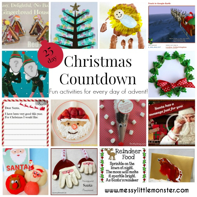 christmas craft and activities count down.  Fun activities for every day of advent.