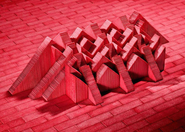 Architectural Sculptures Made from Gum Sticks