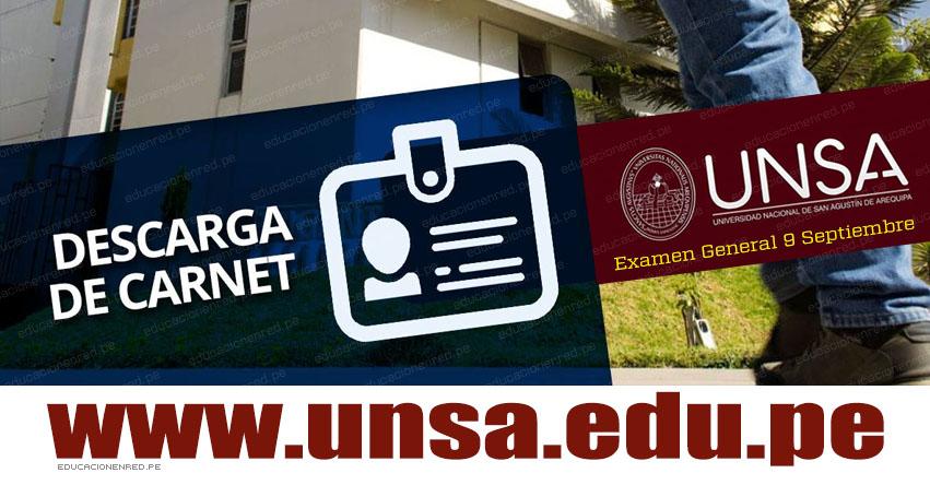 Descargar Carnet UNSA 2019-I Fase (Examen General 9 Septiembre) CARNÉ - PÁGINA DEL POSTULANTE - Universidad Nacional de San Agustín Arequipa - www.unsa.edu.pe