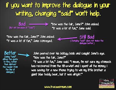 Improving dialogue - Mrs. Orman's Classroom
