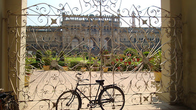 Lucknow Bara Imambara gate bike