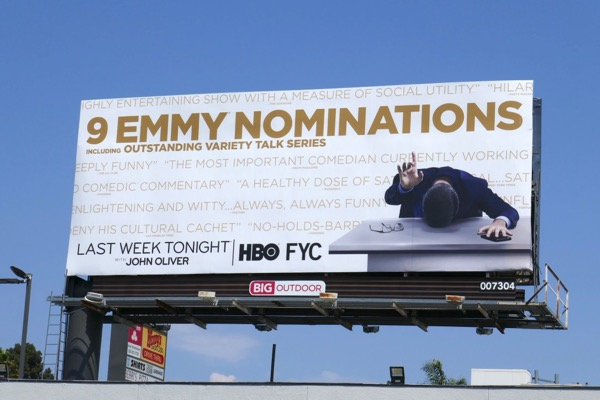 John Oliver 9 Emmy nominations billboard