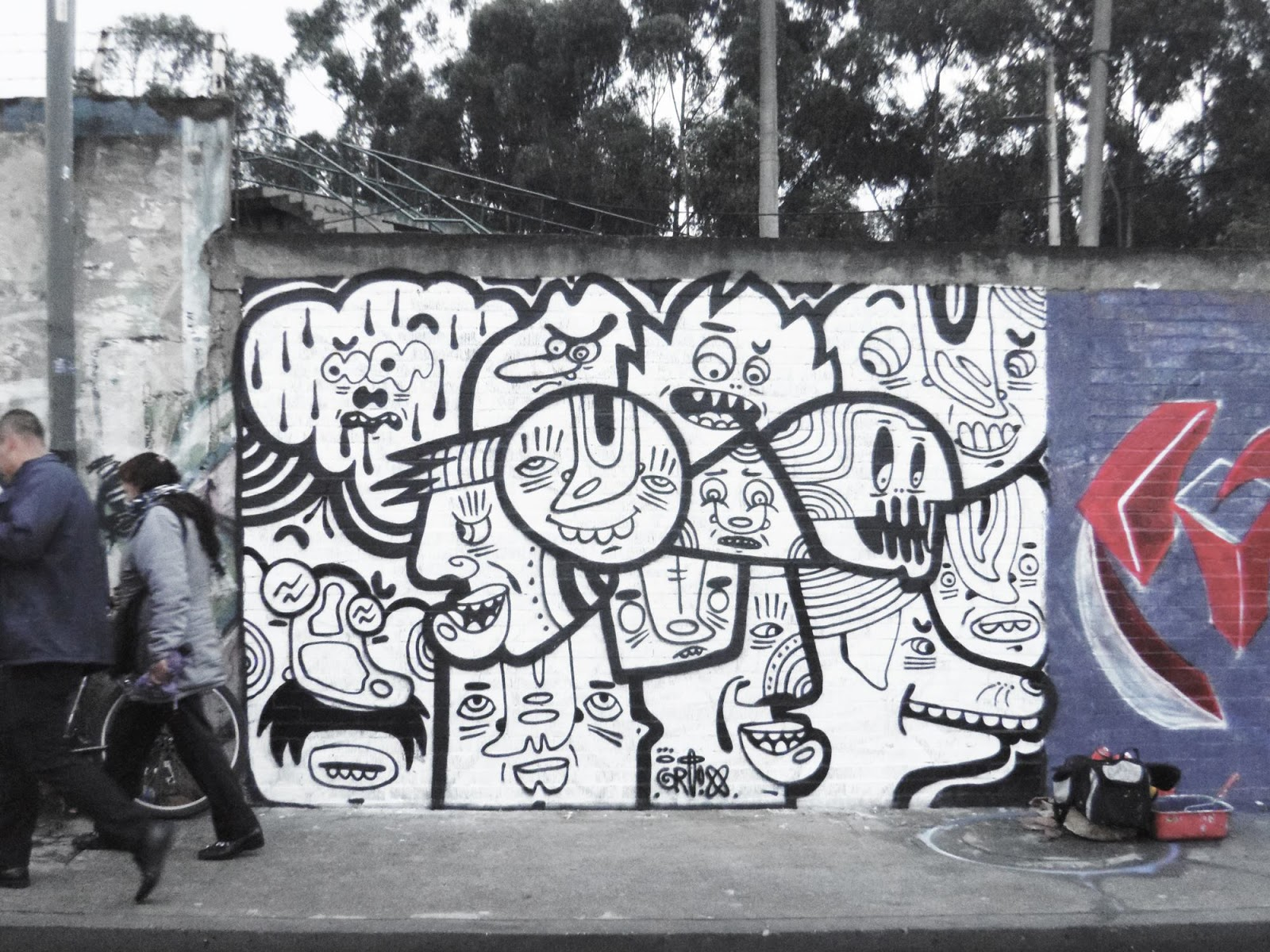 Arte urbano, El comienzo del cartoon network de Giovanny Ortiz Jimenez aka Ortix