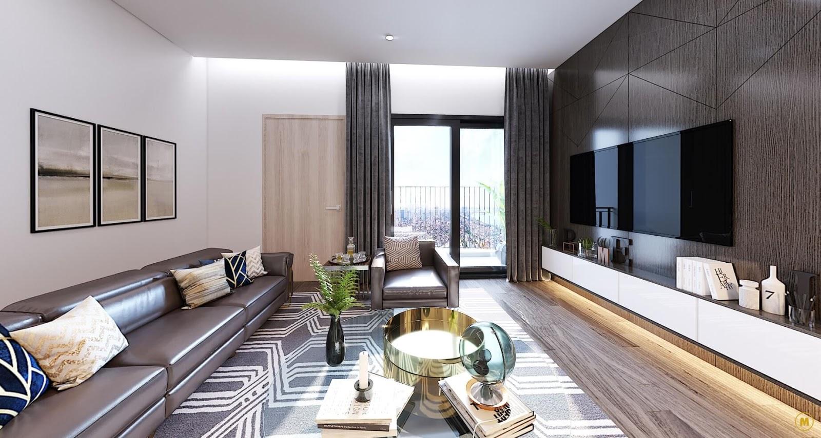 Hình ảnh căn hộ mẫu chung cư Amber Riverside Minh Khai