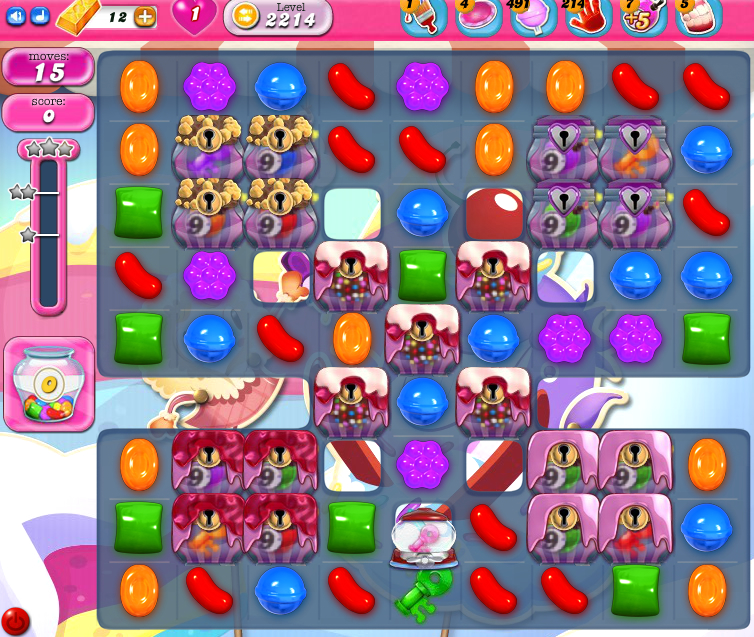 Candy Crush Saga level 2214