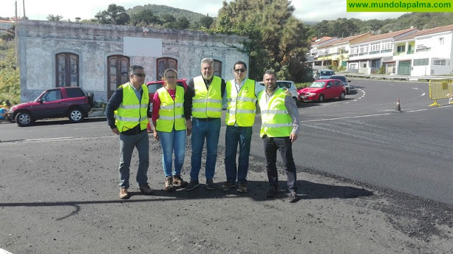 El Cabildo mejora el estado de la carretera LP-206 y de la travesía de San José, en Breña Baja