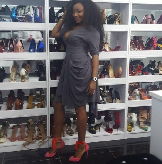 Nollywood Waka Waka Girl, Ini Edo Flaunts Shoes Closet
