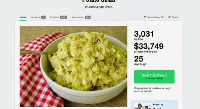 ganar dinero para una ensalada de patatas