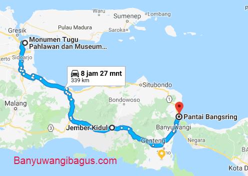 Surabaya-Bangsring via jalur barat