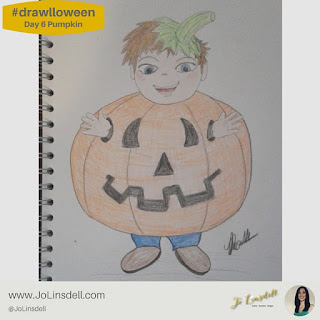 #Drawlloween Day 6 Pumpkin  #Drawing #challenge