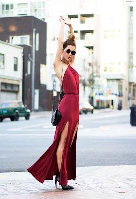 Vestidos de moda color rojo