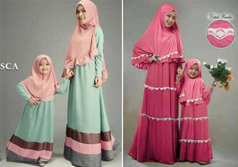 gambar baju gamis ibu dan anak