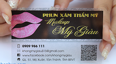 In card visit trong suốt, in card visit bằng nhựa