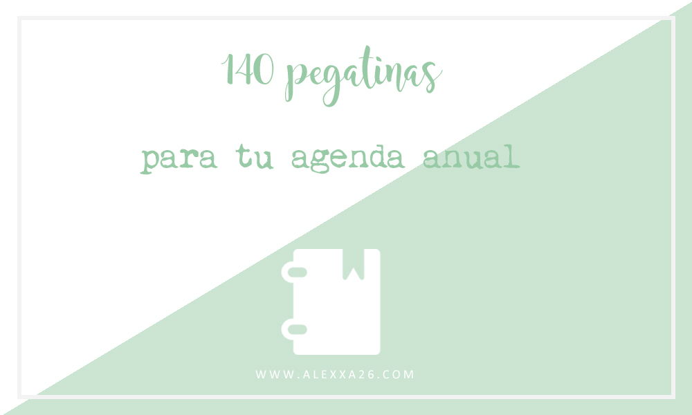140 pegatinas gratuitas para tu agenda anual